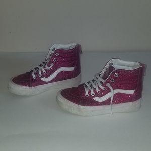 Vans pink glitter sneakers. Size 12 girls. Hightop